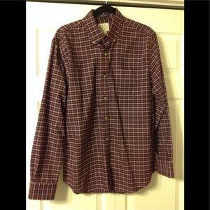 St Johns Bay plaid shirt.